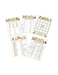 Lillian Rose Woodland Baby Shower Game Cards, Neutral, 5\