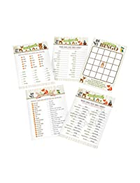 Lillian Rose Woodland Baby Shower Game Cards, Neutral, 5