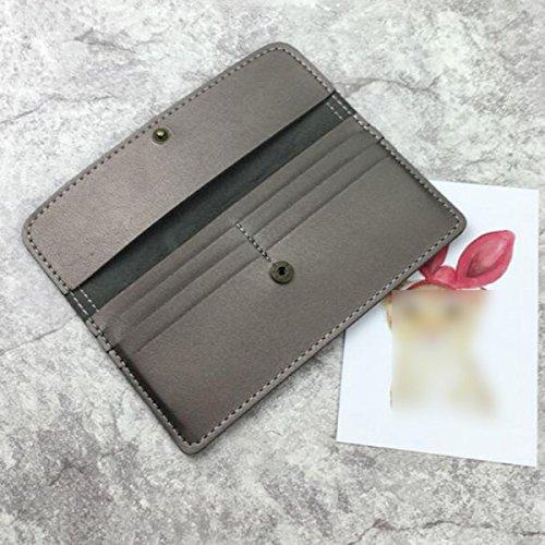 Frau Brieftasche Von ZAIYI Schlank Und Viel Handy Taschen Lange Brieftasche Frauen Einfache Retro Brieftasche Große Kapazität Griff Karte,B A