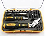 Microtech Watch Package Mail Of 43 Pcs Combination Screwdriver Outfit Ratchet Energy Screw Batch Dismantling Machine Tools