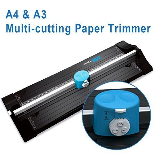 SHUOGOU A4 Paper Trimmer/Photo Cutter with Straight Perforation and Wave 3 Cutting Style - One Additional Cutting Mat Strip, Photos Or Labels by SHUOGOU (Image #2)