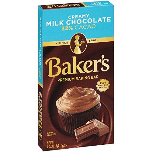 Baker's Premium Creamy Milk Chocolate Baking Bar (4 oz Bars, Pack of 12)