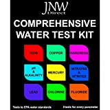 JNW Direct Water Test Kit - Drinking Water Testing Strip Kit for Lead, Iron, Copper, pH Fluoride, Mercury and More, Best Kit for Accurate Water Quality Testing at Home