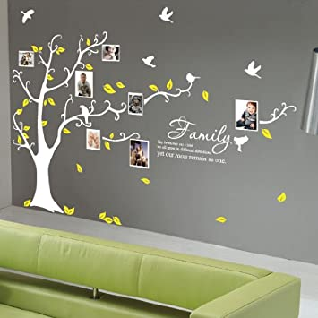 Family Multi Photo Frame Tree Bird Wall Quote Stickers Wall Decals Wall Art