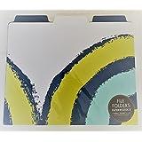 Bulls Eye File Folders Chartreuse/Cobalt