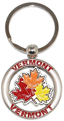 Vermont Classic Maple Leafs Souvenir Keychain (Maple Leaf Vermont)