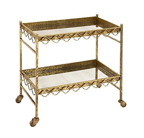 Deco 79 Metal Glass Tea Cart, 30 by 32-Inch from Deco 79