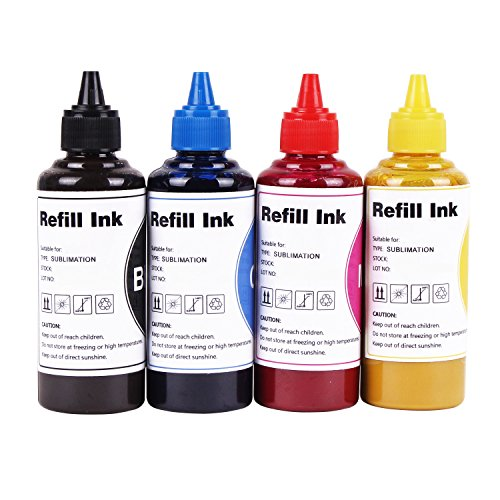 Heat Transfer Printer Ink sublijets hd Ink Compatible with Sawgrass Virtuoso sg400 sg800 sg400NA/EU sg800NA/EU Sublimation Ink use for Refillable Cartridges or CISS (Black, Cyan, Magenta, Yellow)