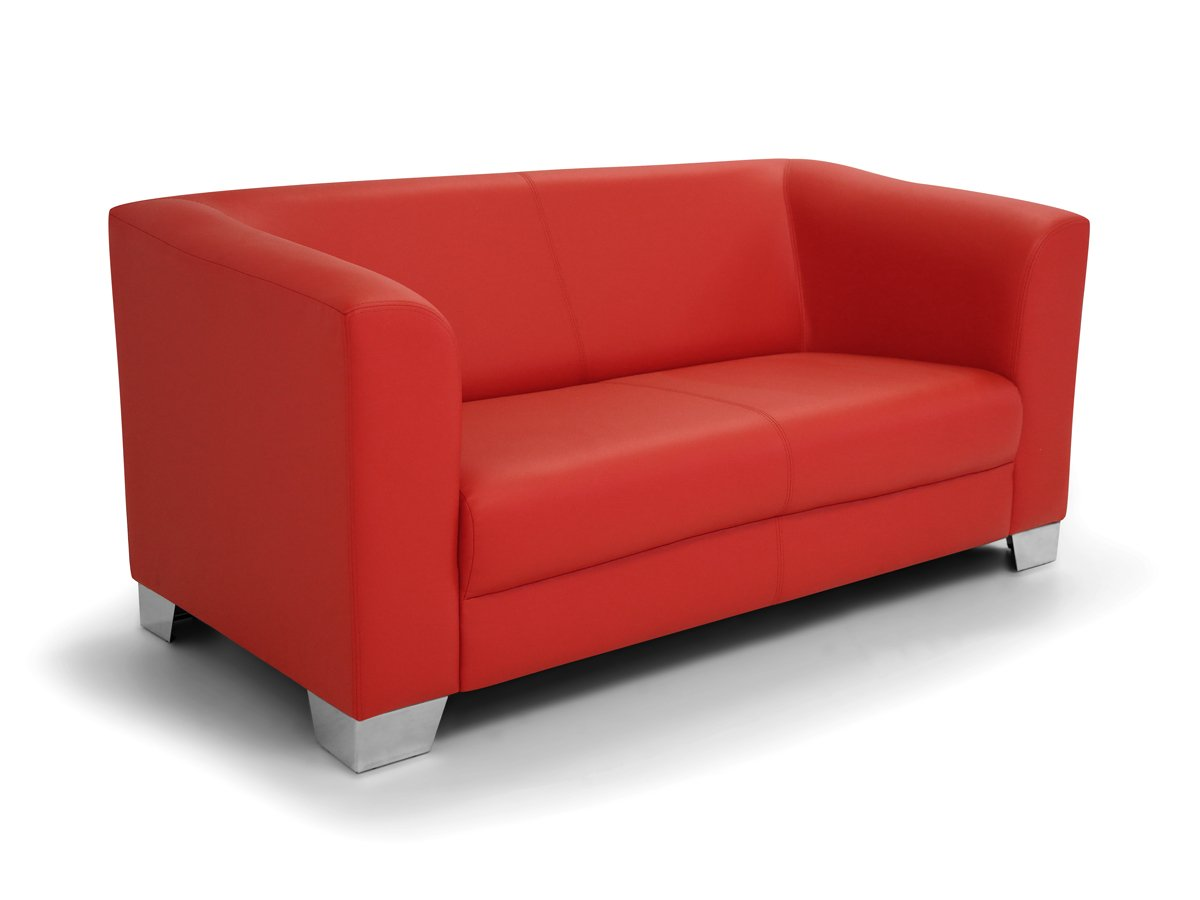 CHICAGO 2er Sofa / Ledersofa, rot: Amazon.de: Küche & Haushalt