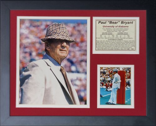 Legends Never Die Paul 'Bear' Bryant Framed Photo Collage, 11 x 14-inch by Legends Never Die