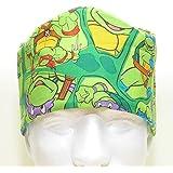 Men's Scrub Hat Cap, Handmade in USA, Teenage Mutant Ninja Turtles, TMNT