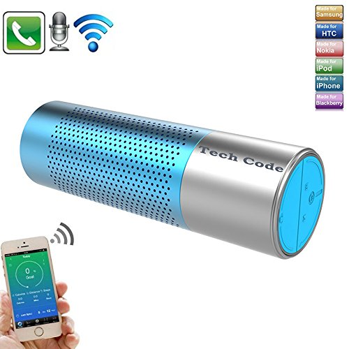 Wireless Bluetooth Speaker,Techcode Portable Stereo Speaker with High-Definition Bass,Rechargeable Flashlight Torch Speaker with Flashlight ,Handsfree for Calls for iPhone, iPod, iPad, Samsung - Rating Unstoppable