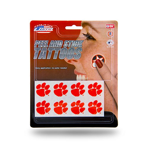 Rico Industries NCAA Clemson Tigers Face Tattoos, 8-Piece -