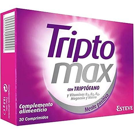TRIPTOMAX 30 comprimidos. Complemento alimenticio para combatir la ansiedad, el estrés y un estado anímico bajo.
