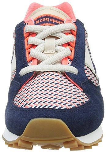 Le Coq Sportif Eclat W Geo, Zapatillas para Mujer Azul (Dress Blue/Fiery CorDress Blue/Fiery Cor)