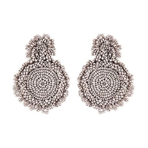 - YY Cherry Trendy Handmade Crystal Beaded Drop Earrings Jewelry Earrings For Women Girls Bohemian Wedding Gifts Statement,23