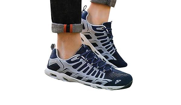 Yvelands-chaussures Zapatillas Deportivas para Hombre con Puntera ...