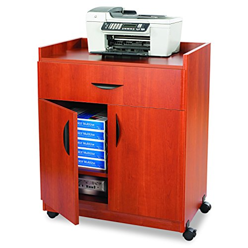 Safco Products 1852CY Deluxe Mobile Machine Stand, Cherry