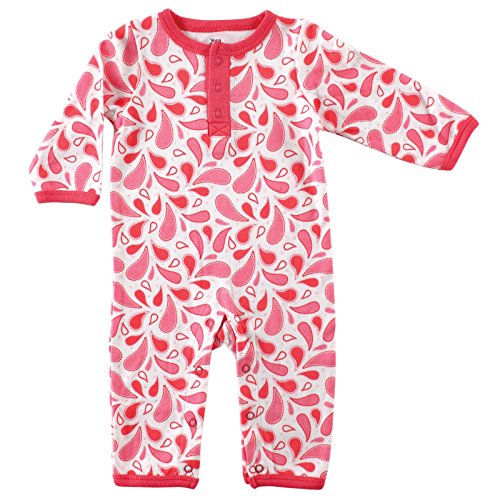 Yoga Sprout Cotton Union Suit, Pink, 3-6 M