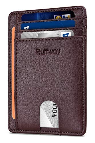 Chocolate Mens Wallets - Slim Minimalist Leather Wallets for Men & Women - Sand Chocolate