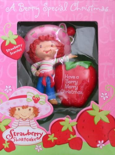 Strawberry Shortcake Ornament  Christmas Ornament  Mini Wreath Ornament