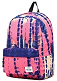 SIMPLAY Classic School Backpack Bookbag | 17''x12.5''x5'' | Assorted Colors | Watercolor Painting