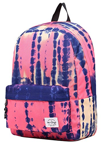 SIMPLAY Classic School Backpack Bookbag | 17''x12.5''x5'' | Assorted Colors | Watercolor Painting by hotstyle
