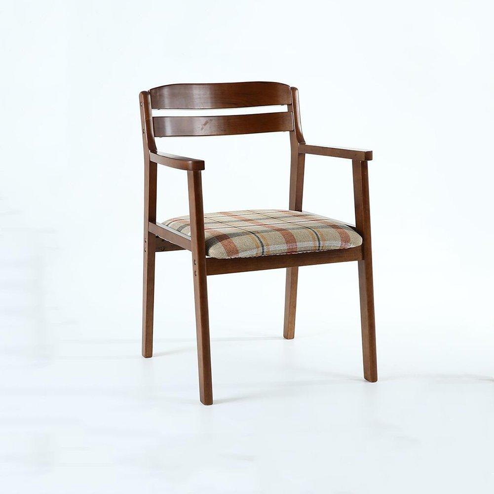 DALL ダイニングチェア JY-059クリエイティブ格子縞 絵 コットンリネン 組み立てることができます リムーバブル ウォッシュ 背もたれレジャー木製椅子 (色 : 1) B07DCP3NPH1