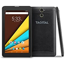 """Tagital 7"""" Quad Core 3G Phablet, Android Phone Tablet, Android 6.0, 1024 x 600 IPS Screen, Dual Camera, Unlocked GSM w/ Dual Sim Card Slot, 2G/3G Phablet"""
