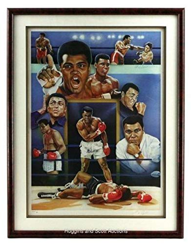 (Icons of boxing Muhammad Ali Limited Edition Autographed Framed and Matted 3D Photo, PSA/DNA Certified)