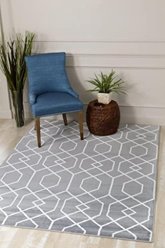 Cheap Persian Area Rugs 10×13 3355 Gray Moroccan Trellis living room rug for sale