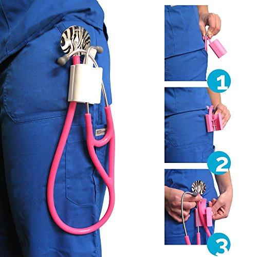 UltraScope Stethoscope Clip by Nurse Born - Pink by UltraScope (Image #2)