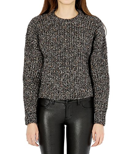 wiberlux-isabel-marant-hewitt-womens-flecked-woolen-cropped-sweater-38-charcoal