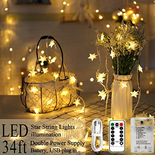 Areskey Star String Lights, 80 LED Star Christmas