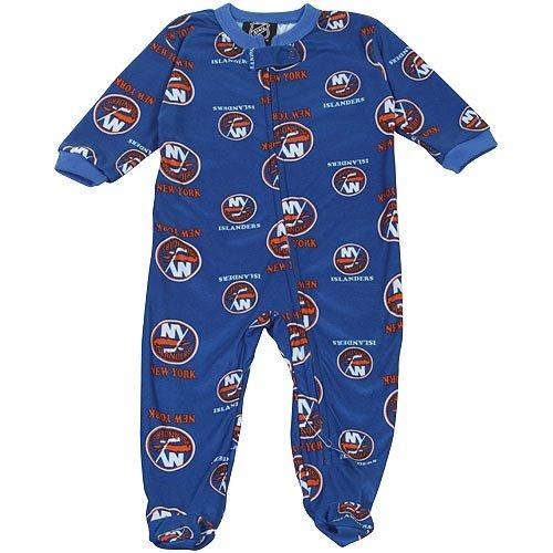 NHL New York Islanders Newborn Logo Print Blanket Sleeper - Royal Blue (0-3 Months)