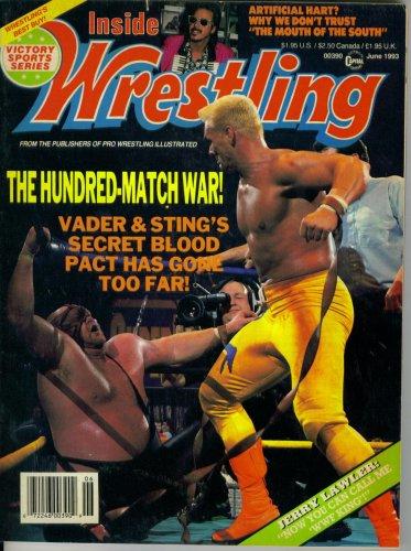 Inside Wrestling Magazine : The Hundred Match War - Vader & Sting's Secret Blood Pact Has Gone Too Far (June 1993)