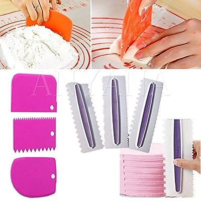 Anyana 6pcs plastic scraper mold fondant cake decorating tools cooking baking kitchen accessories cake tool