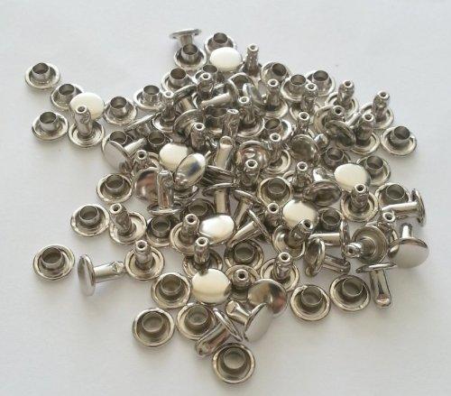 Medium Steel Rivet (Rivet, Pack of 50, Compressed Speedy Rivets - Steel Nickel Plated)