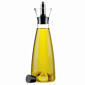 Huayoung 500ml Glass Leakage-proof Bottles Oil Bottles Vinegar Bottles Cruets with Stainless Steel Spout (Transparent)