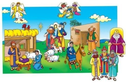 - Little Folk Visuals Beginners Bible: Baby Jesus Precut Flannel/Felt Board Figures, 16 Pieces Set