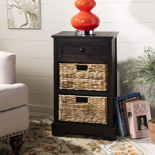 Safavieh American Homes Collection Carrie Brown Side Storage Side Table (Clearance Edmonton Furniture)