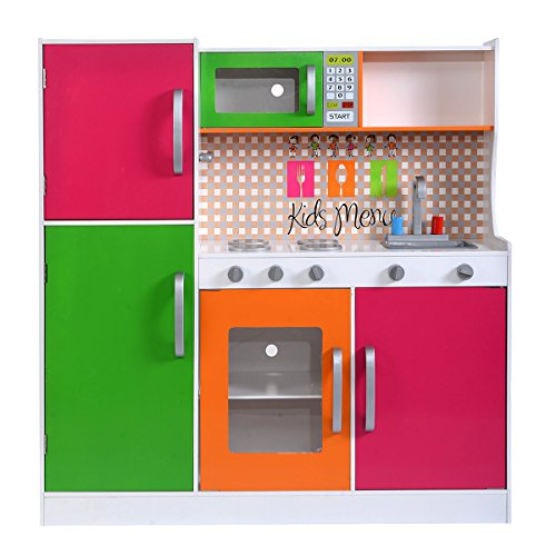 Wood Kitchen Toy Kids Cooking Pretend Play Set Toddler Wooden Playset Gift