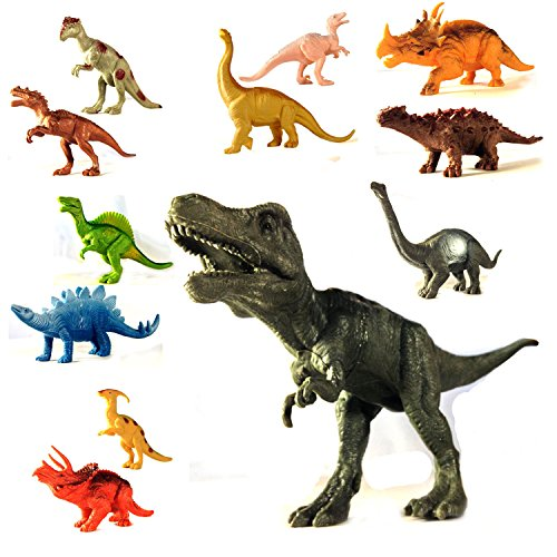 Dinosaur Toys Action Figure Set 12 Piece Educational for Tod