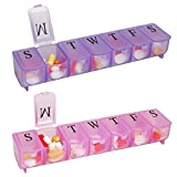 Apex 7-Day Pill Organizer, Ultra Bubble-Lok, 1 organizer (Pack of 2)