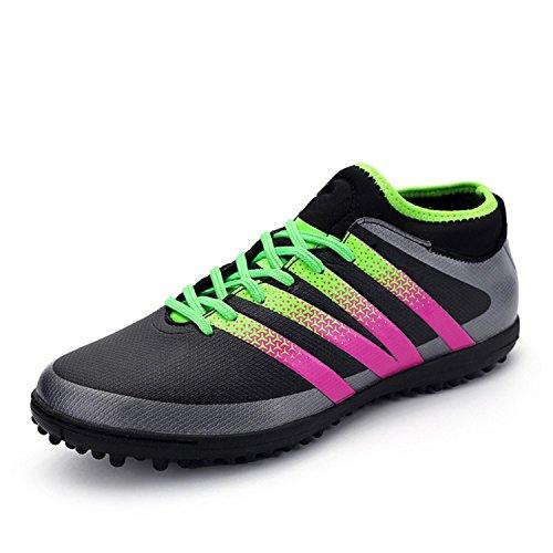 Gwendolynarnett Comfortable Fashion New Convenient Show Women's Performance Soccer Shoe Outdoor Athletic Football Cleats (6, Black-TF) Black-tf6 B(M) US