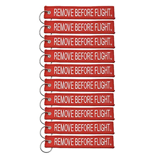 Apex Imports 10x Remove Before Flight Red/White Key Chain 5.5