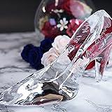 メッセージ名入れガラスの靴 ハイグレードタイプ 1か所彫刻付