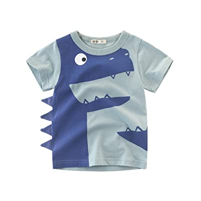 Kehen- Kid T-Shirt Toddler Boy Girl Summer Clothes Outfit Short Sleeve 3D Dinosaurs Print Tee Shirt Top: Clothing