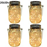 The Solar Powered LED Lights in a jar is perfect for solar walkway lighting, garden/patio/lawn pendant light, solar garden lighting, and creating a perfect summer ambiance on your patio. Each light has a copper wire and 20 old-fashioned warn white LE...
