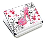 """Butterflies High Heel Fashion Netbook Laptop Skin Sticker Reusable Protector Cover Case for 11.6"""" 13"""" 13.3"""" 14"""" 15"""" 15.6"""" Inch Apple Acer Asus Toshiba Hp Samsung Dell Leonovo Sony Laptop YNEK-124"""